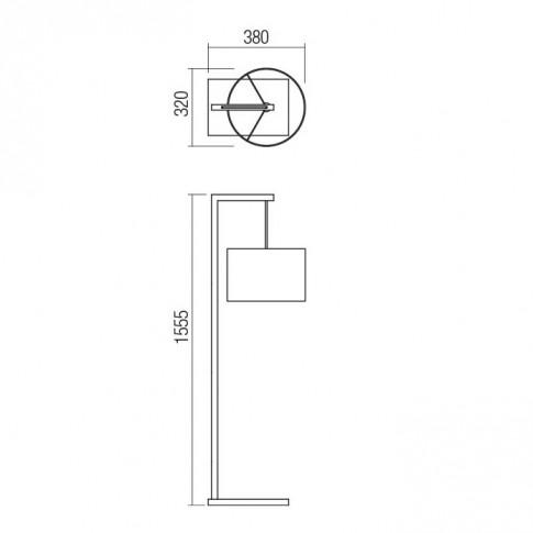 Lampadar Radal 01-1814, 1 x E27, 1555 mm, lemn bambus + bej