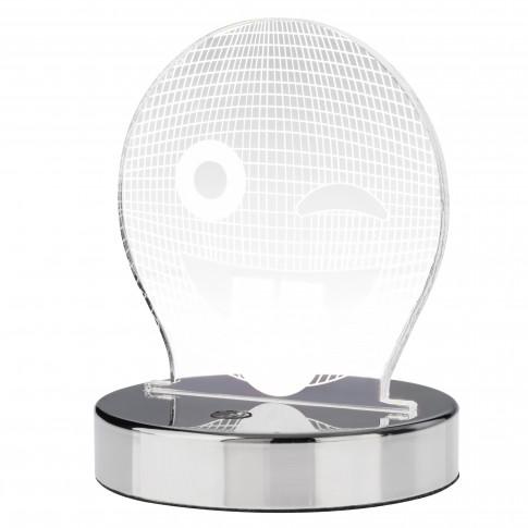Veioza LED RGB Playlight 04-503, 3.5W, smiley