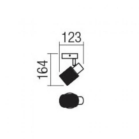 Aplica Vertigo 04-506, 1 x E14, crom + alb