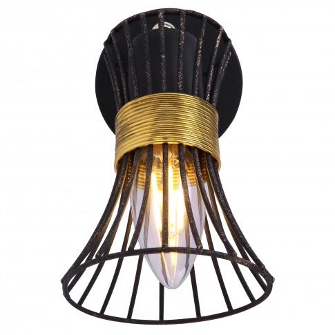 Aplica Purra 54814-1, 1 x E14, negru + auriu