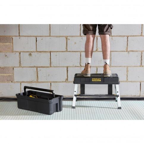 Cutie pentru scule, Stanley Fatmax StepBox, cu scara metalica