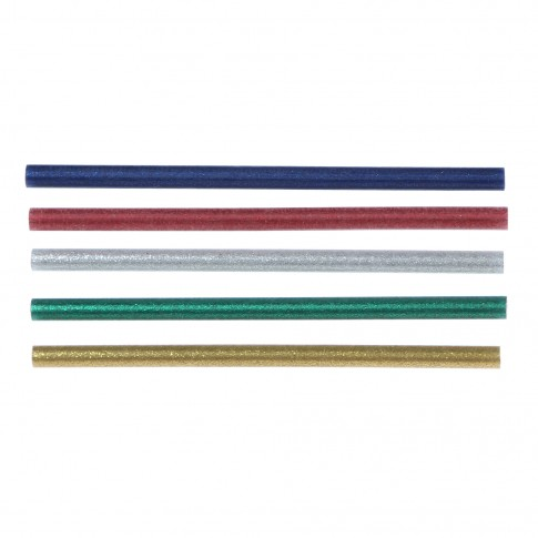 Bagheta adeziv cu sclipici, pentru lipire, Steinel Glitzer, 7 x 150 mm, set 16 bucati