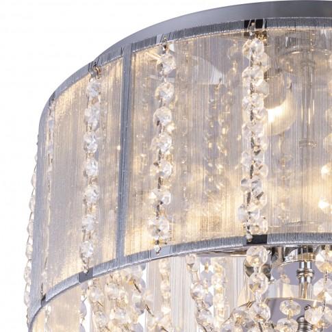 Plafoniera Walla 15091D, 4 x E14, decoratiuni transparente