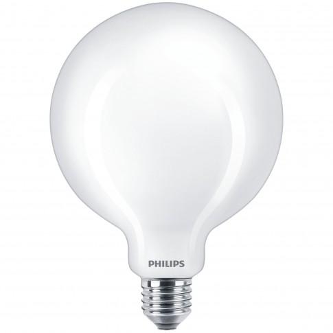Bec LED filament Philips glob G120 E27 7W 806lm lumina calda 2700 K, mat