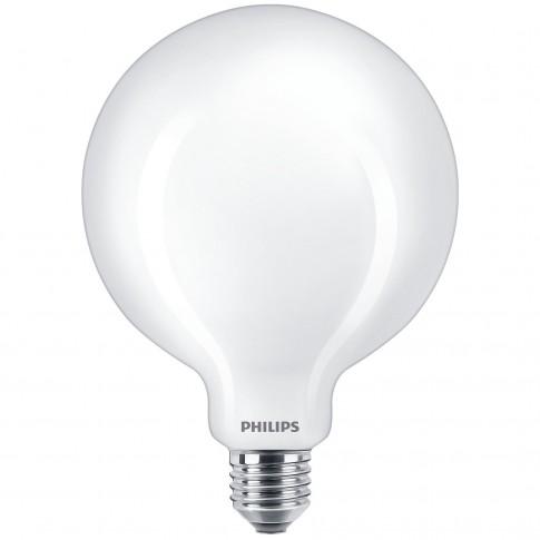 Bec LED filament Philips glob G120 E27 10.5W 1521lm lumina calda 2700 K, mat