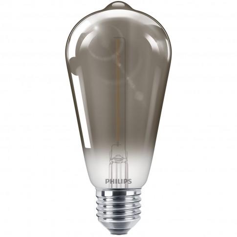 Bec LED filament Philips clasic ST64 E27 2.3W 136lm lumina calda 2700 K, fumuriu