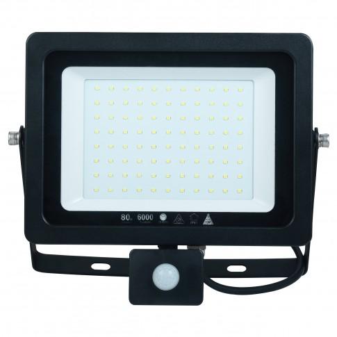 Proiector LED cu senzor de miscare Hoff 75W, lumina rece, IP65