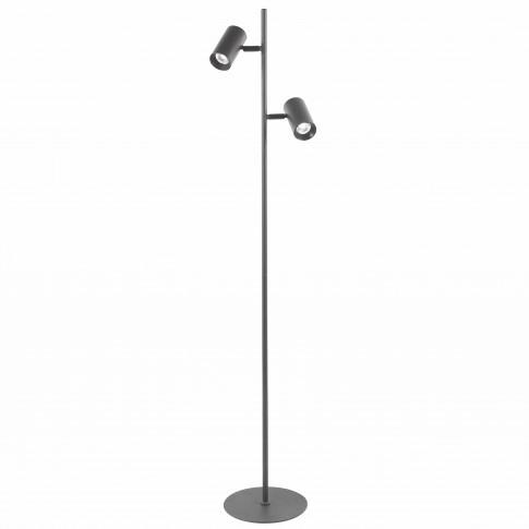 Lampadar LED Hoff Black, 2 x 8W, 2 x 550lm, functie touch, 4 trepte de lumina, lumina neutra 4000K, 1500 mm, negru