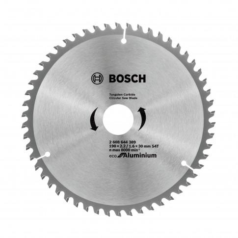 Disc circular, pentru aluminiu, Bosch 2608644389, 190 x 30 x 1.6 mm, 54T