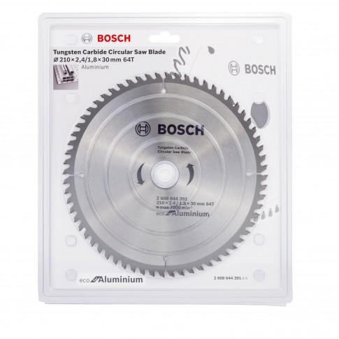 Disc circular, pentru aluminiu, Bosch 2608644391, 210 x 30 x 1.8 mm, 64T