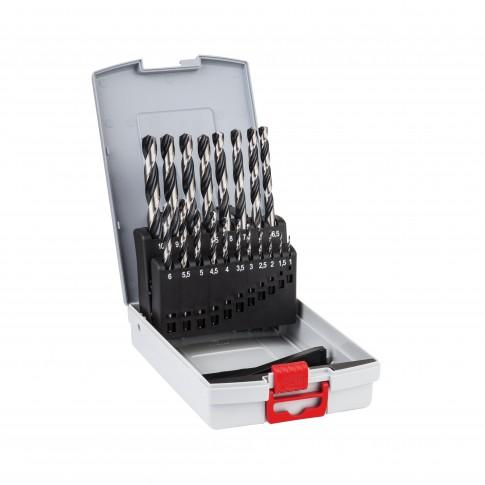 Set 19 burghie pentru metale feroase, HSS Point-Teq, Bosch 2608577351