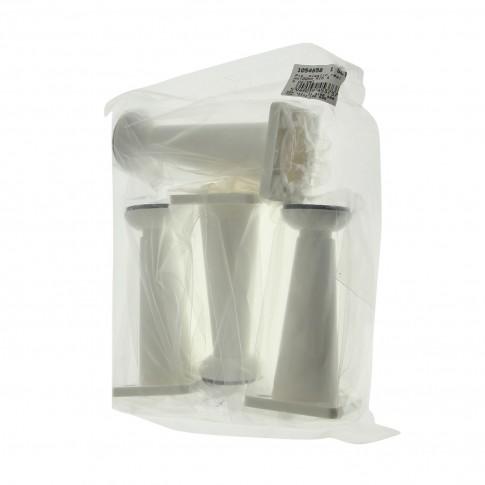 Picioare mobila, universale, reglabile, din plastic, albe, 100 mm, set 4 bucati