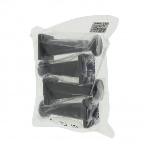 Picioare mobila, universale, reglabile, din plastic, negre, 100 mm, set 4 bucati