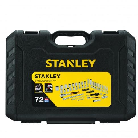 Set surubelnite cu clichet si accesorii, Stanley Automotive, 72 piese