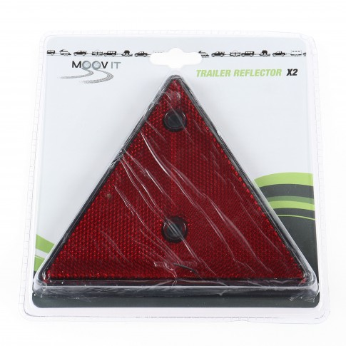 Triunghi reflectorizant pentru remorca auto, 14 x 16 cm, set 2 bucati