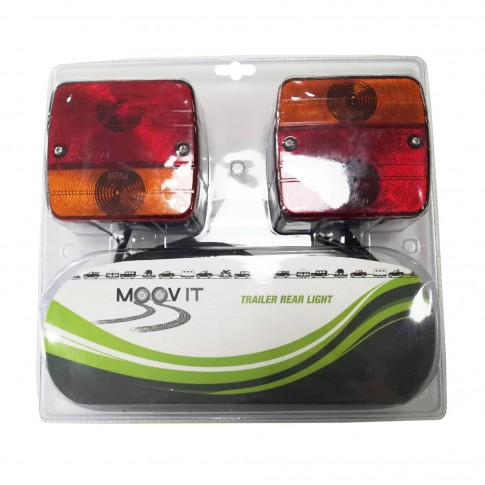 Lampa spate pentru remorca auto, plastic, set 2 bucati