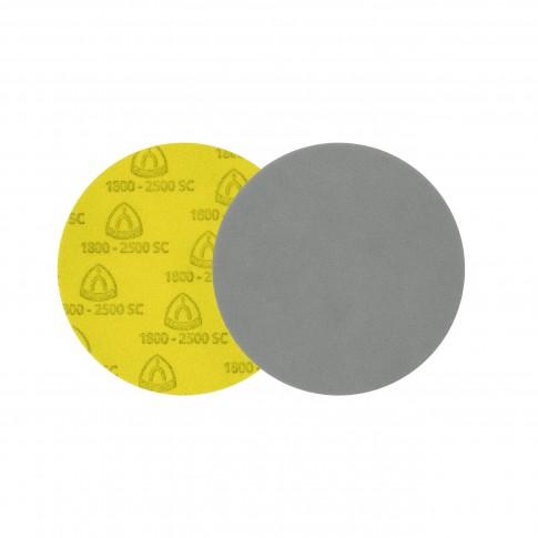 Disc abraziv cu autofixare, pentru slefuire vopsea / lac / spaclu, Klingspor FD 500, 150 mm, granulatie 2000