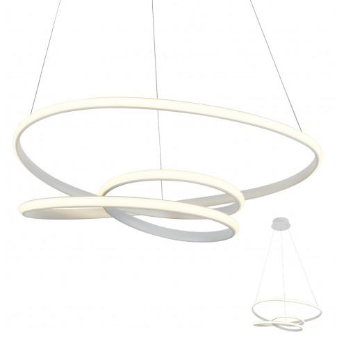 Suspensie LED Sintra 01-2191, 57W, 3705lm, lumina calda, alba