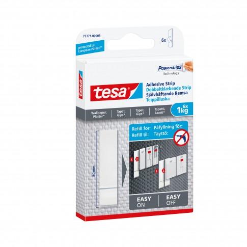 Fasii adezive, pentru tapet si tencuiala, Tesa Powerstrips, set 6 bucati, 1 kg
