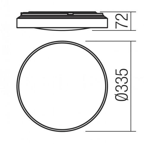 Plafoniera LED Amon 01-2180, 18W, 930lm, lumina neutra, IP44, alba