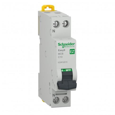 Intrerupator automat modular Schneider Electric EZ9P32610, 4.5kA, 1P+N, 10A, curba C