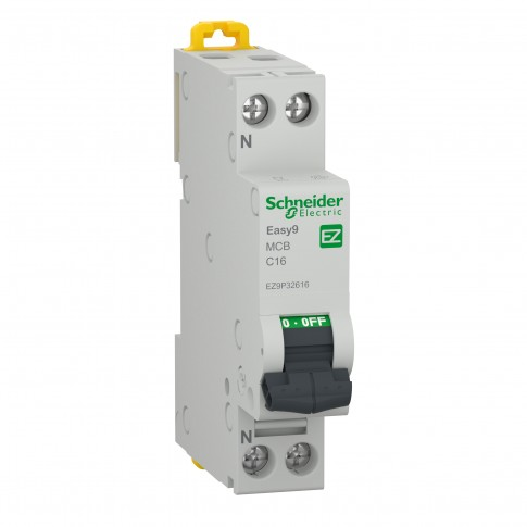 Intrerupator automat modular Schneider Electric EZ9P32616, 4.5kA, 1P+N, 16A, curba C