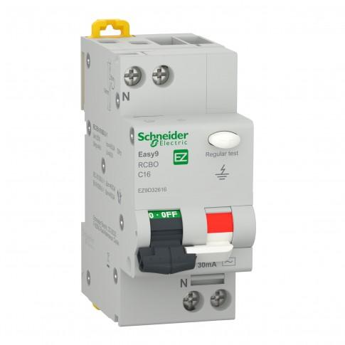 Intrerupator automat modular diferential Schneider Electric EZ9D32616, 4.5kA, 1P+N, 16A, 30mA, curba C