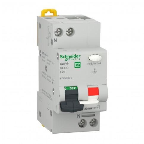 Intrerupator automat modular diferential Schneider Electric EZ9D32625, 4.5kA, 1P+N, 25A, 30mA, curba C