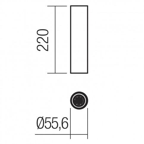 Spot aparent Axis 01-2157, 1 x GU10, H 22 cm, auriu mat