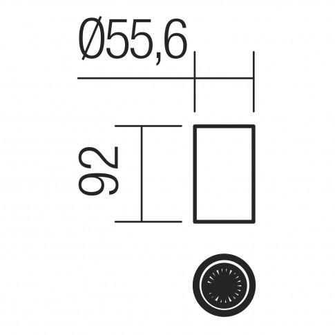 Spot aparent Axis 01-2148, 1 x GU10, H 9.2 cm, negru mat