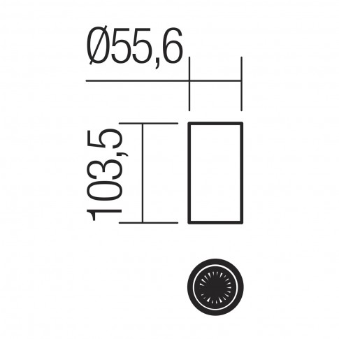 Spot aparent Axis 01-2143, 1 x GU10, H 10.35 cm, alb mat