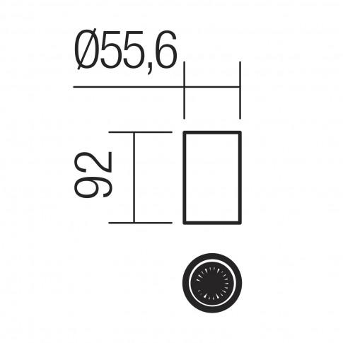 Spot aparent Axis 01-2147, 1 x GU10, H 9.2 cm, alb mat