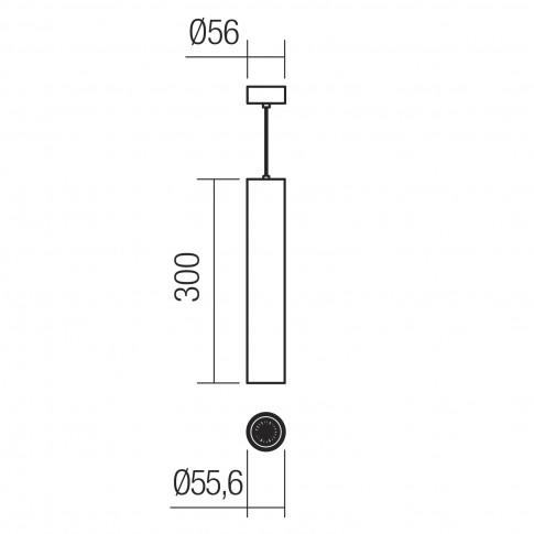 Suspensie Axis 01-2154, 1 x GU10, cupru mat