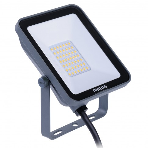 Proiector LED simetric Philips Ledinaire BVP154, 20W, 2100lm, lumina neutra, IP65, gri