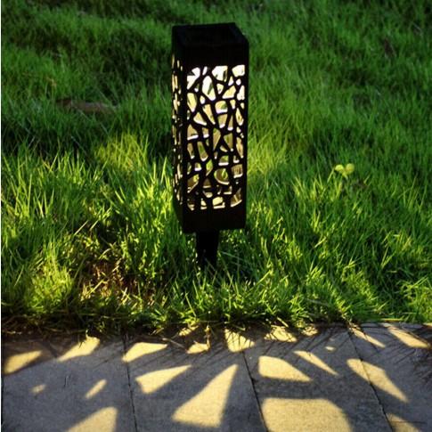 Lampa solara LED alb cald Hoff, H 29 cm