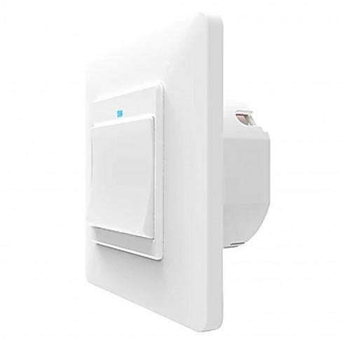 Intrerupator simplu inteligent Smarthome WS121, wi-fi, control distanta si comenzi vocale, programabil, alb
