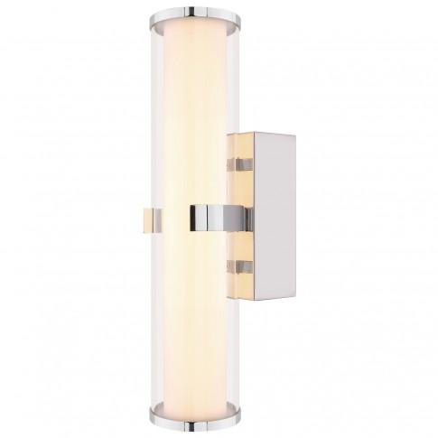 Aplica LED pentru baie Alcorcon 41539-15, 15W, 876lm, lumina calda, crom + transparent