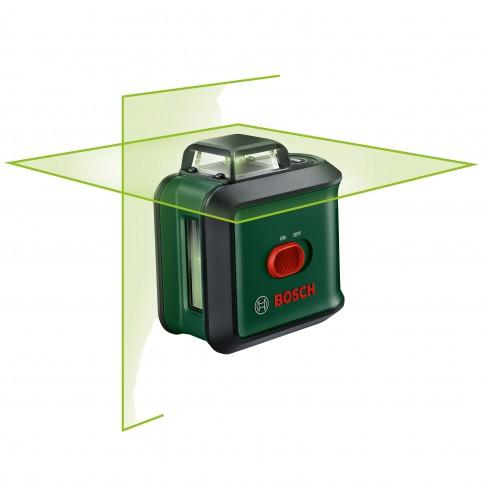 Nivela cu laser, cu linii in cruce, Bosch UniversalLevel 360 Premium Set, cu autonivelare, cu stativ