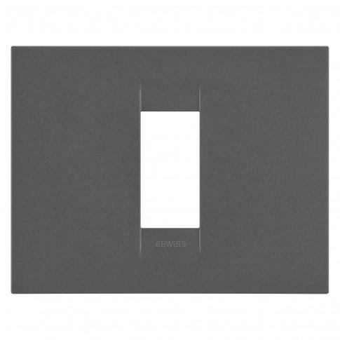 Rama Gewiss Chorus Geo GW16401VN, 1 modul, negru - satin, pentru priza / intrerupator