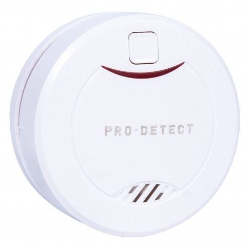 Detector de fum DF-02, cu baterie, alb