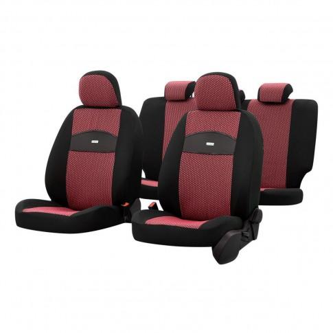 Huse auto pentru scaun, Otom Smart, universale, rosu, set 11 piese