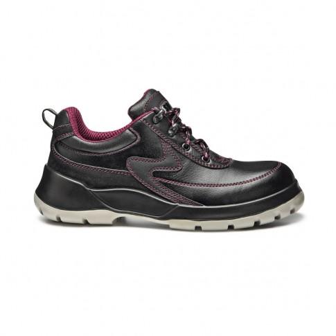 Pantofi de protectie 270 Viper cu bombeu metalic, piele, negru, S1P SRC, marimea 41