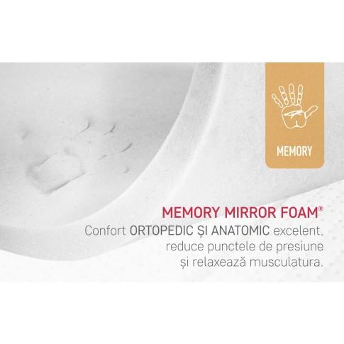 Saltea pat Bedora Argento Memory 7Z, ortopedica, 160 x 200 cm, cu spuma memory, fara arcuri