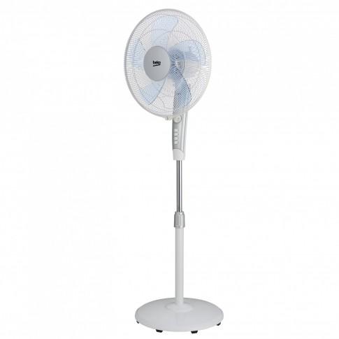 Ventilator cu picior Beko EFS5100W, 50 W, 3 viteze, diametru 40 cm, alb