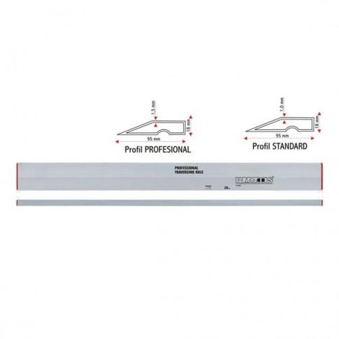 Dreptar aluminiu, pentru constructii, Lumytools LT18116, tip trapez, 1.5 m