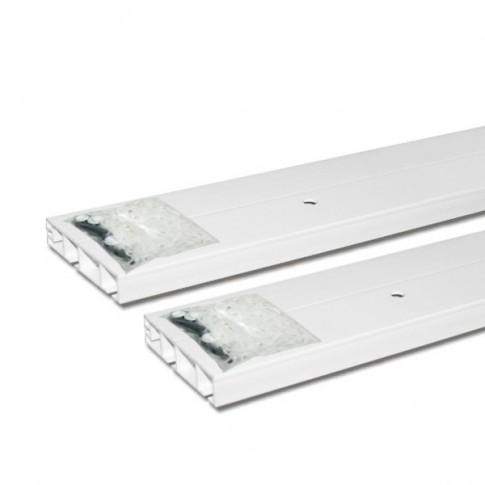 Sina perdea tavan cu 2 canale SN PVC 350 cm alb