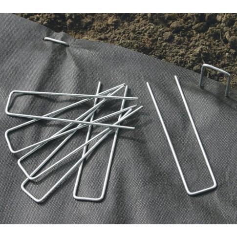 Cleme pentru fixare folii si plase Fixsol, metal, 17 x 3.5 cm, set 10 buc