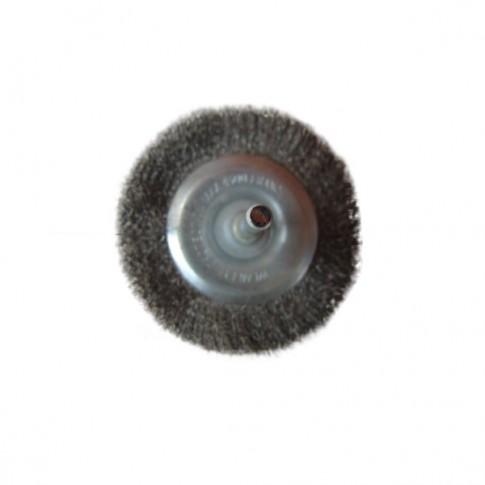 Perie circulara, cu tija, pentru metale moi, Peromex 5135V, diametru 75 mm