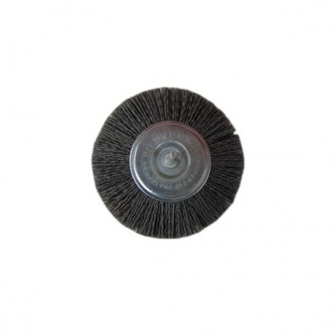Perie circulara, cu tija, din nylon abraziv, pentru inox / aluminiu / metale / moi, Peromex 5147V, diametru 100