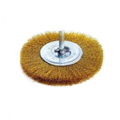 Perie circulara, cu tija, pentru metale moi, Peromex 6134G, diametru 75 mm